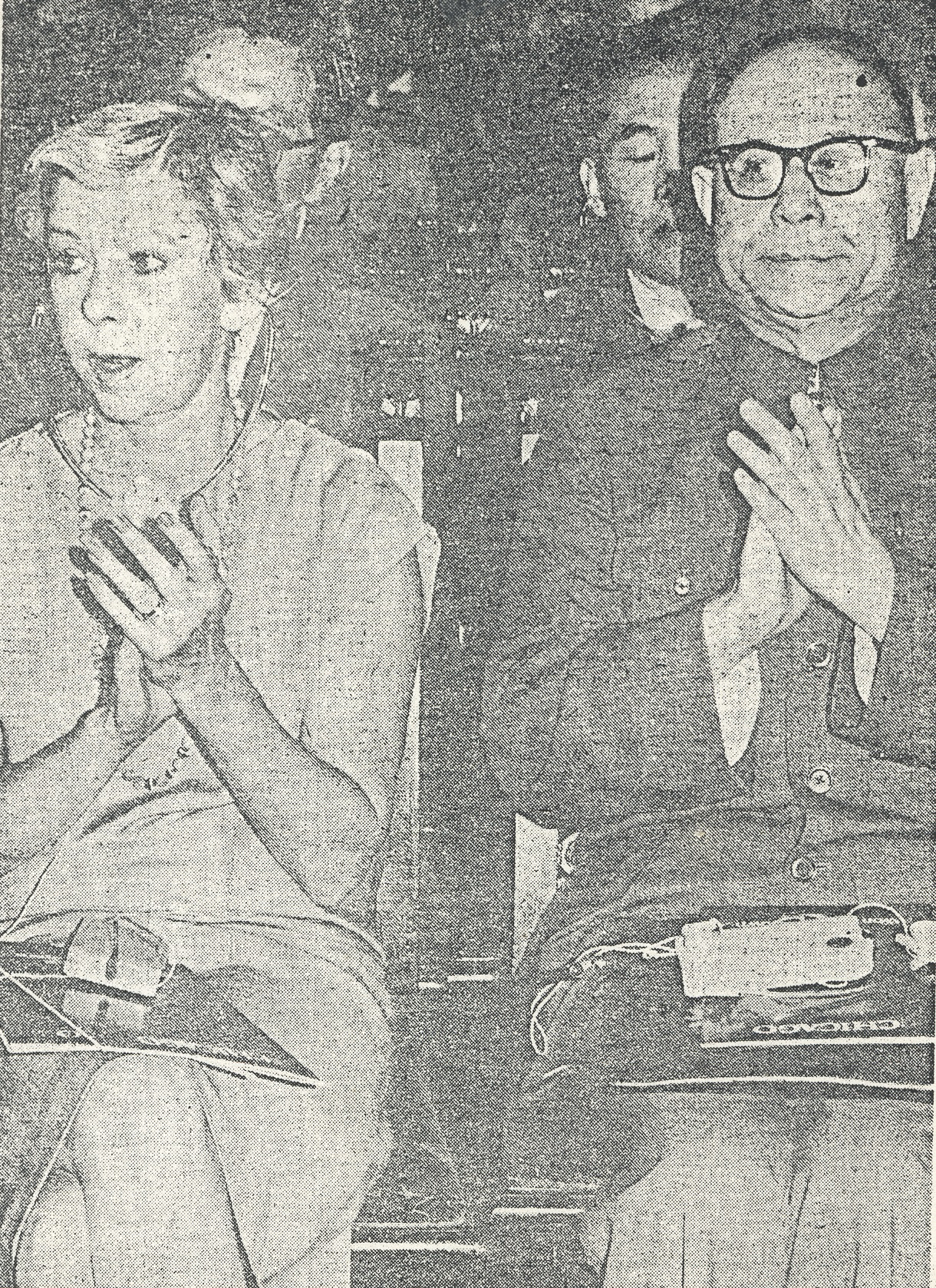 Chicago Mayor Jane Byrne and Shanghai Mayor